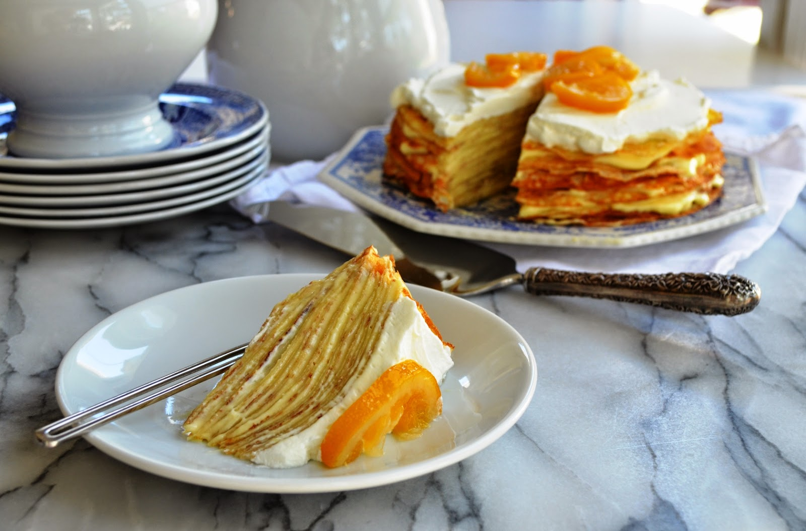 Crepe Cake wih Meyer Lemon Mousse - Smell of Rosemary.