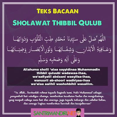 Teks Bacaan Sholawat Thibbil Qulub Arab Latin dan Keistimewaanya