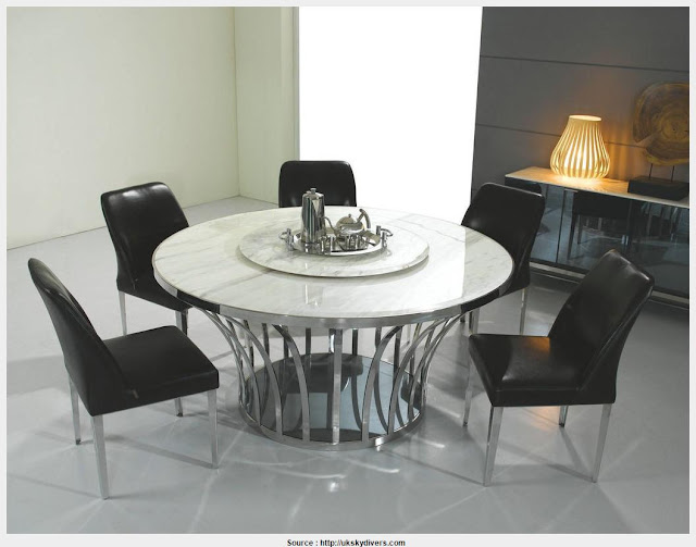 Simple Marble Round Dining Table Pictures