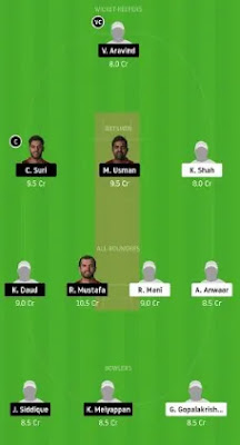 ECB vs SBK Dream11 team prediction