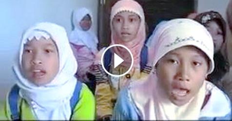 Video Diduga Anak-anak Muslimah Nyanyikan Lagu Yesus Gegerkan Sosial Media