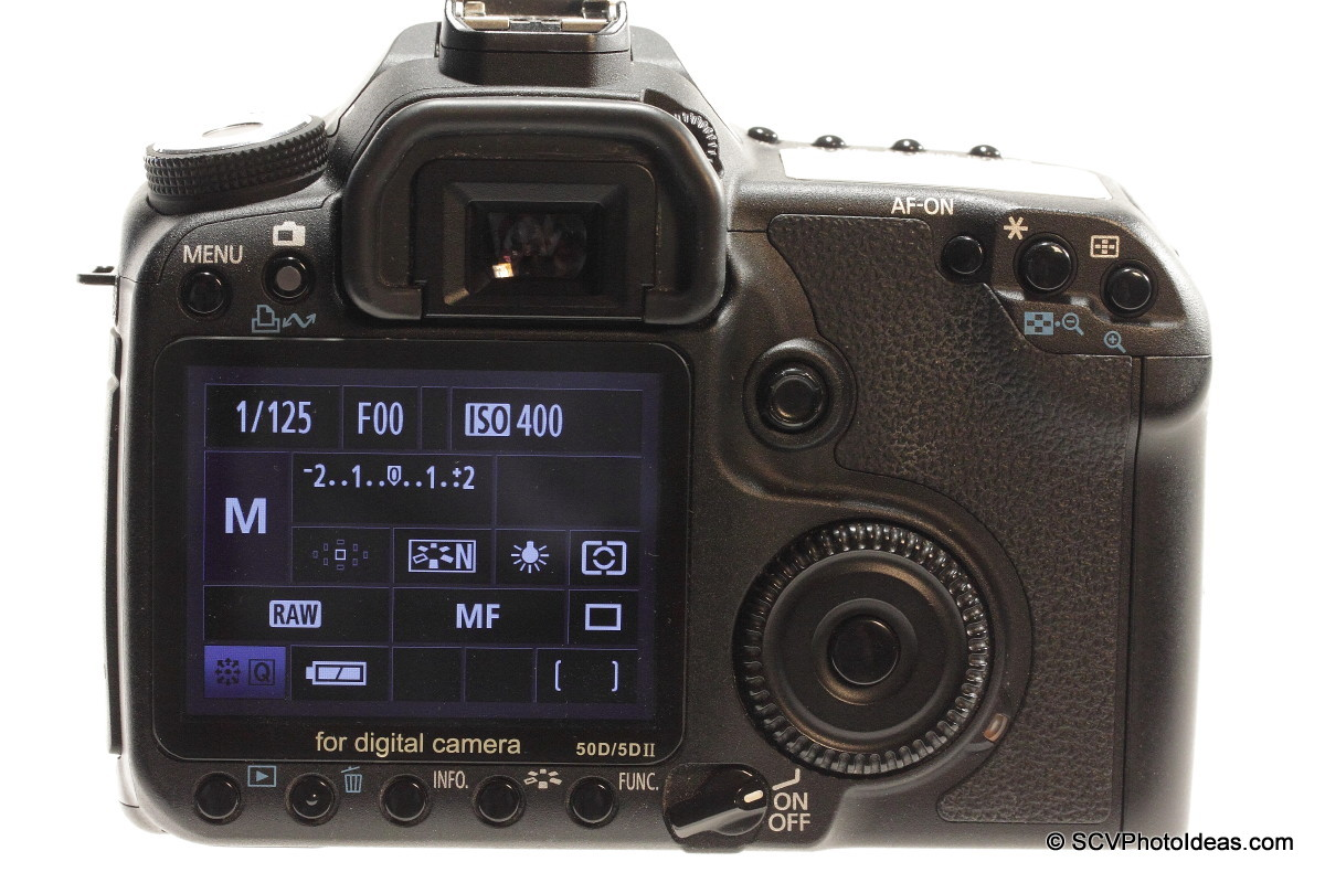 Canon EOS 50D Digital Camera body back - LCD on