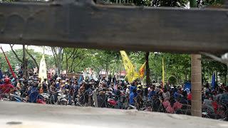 Demo buruh di medan