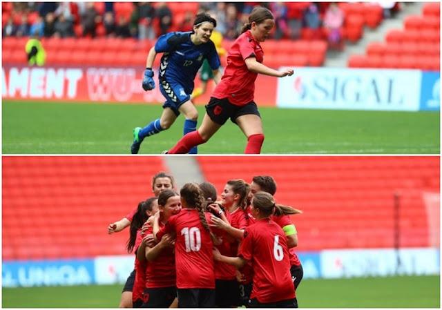 Albania team of Women U-16 wins against Lithuania in Air Albania stadium