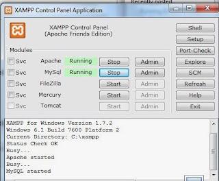 xampp control panel on windows