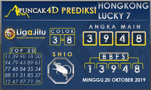 PREDIKSI TOGEL HONGKONG LUCKY7 PUNCAK4D 20 OKTOBER 2019