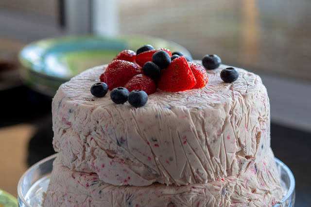 Tiered Ice Cream Cake Close-Up Food Photography