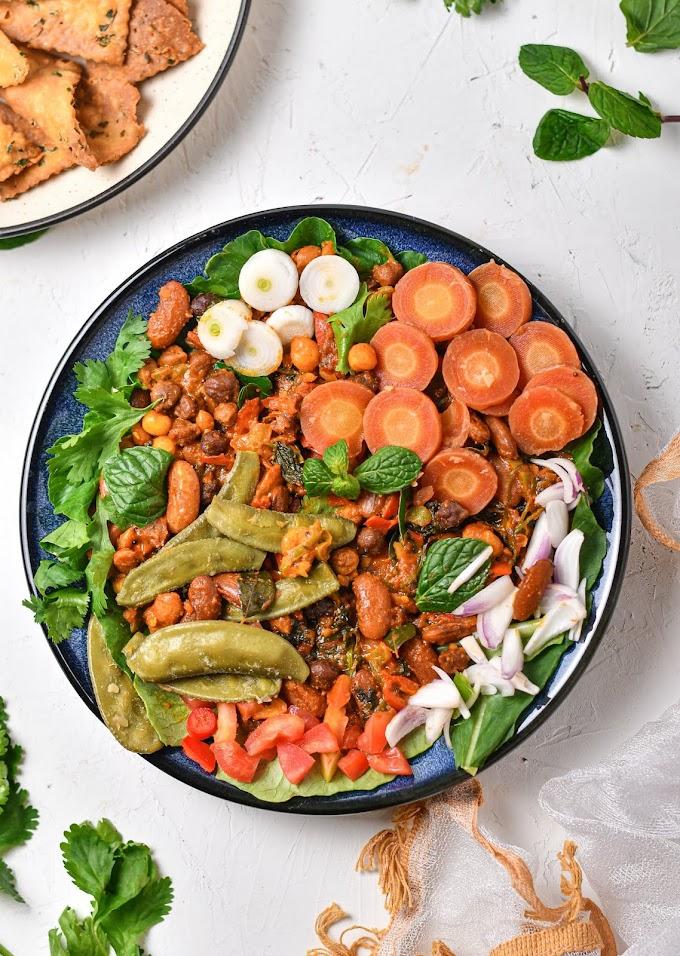 Rich Nutrients Vegan Beans Salad