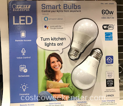 Control your lights from anywhere with Feit Electric 60w WiFi Smart Bulbs