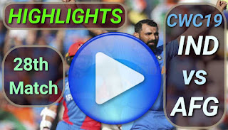 Ind vs Afg 28th Match