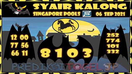 Syair Kalong Togel Singapura Senin 06-Sep-2021