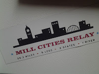Mill Cities Relay icon on a magnet