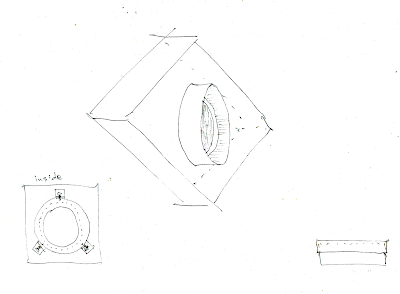 sketch of adapter box with output tube