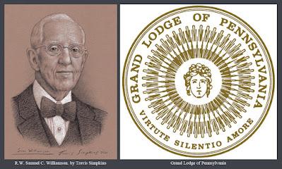 R.W. Samuel C. Williamson. Past Grand Master. Grand Lodge of  Pennsylvania. by Travis Simpkins