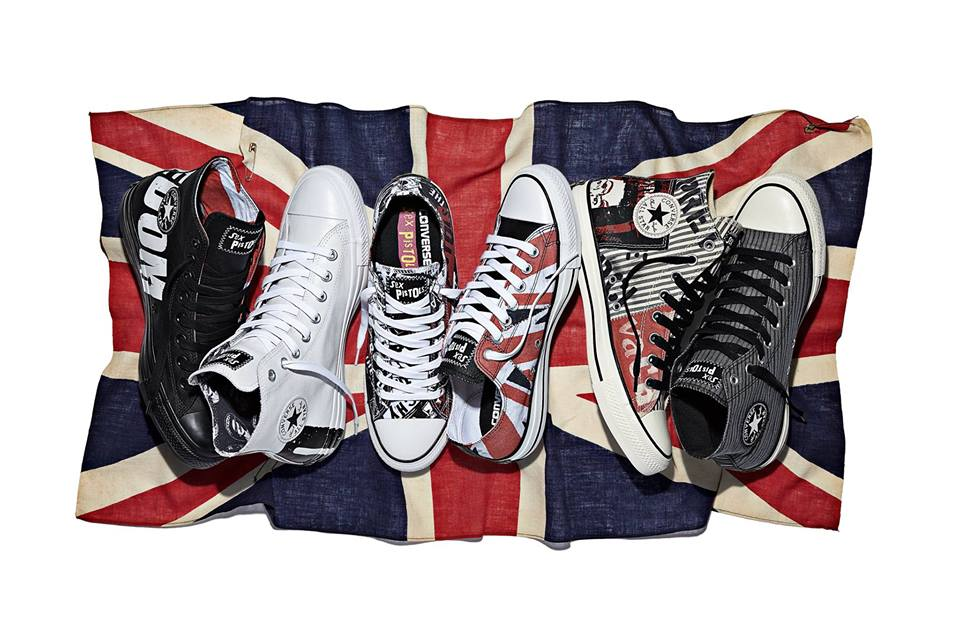 94f47d527a5251 Sex Pistols rocks the Converse Chuck Taylor All Star Sex Pistols collection!