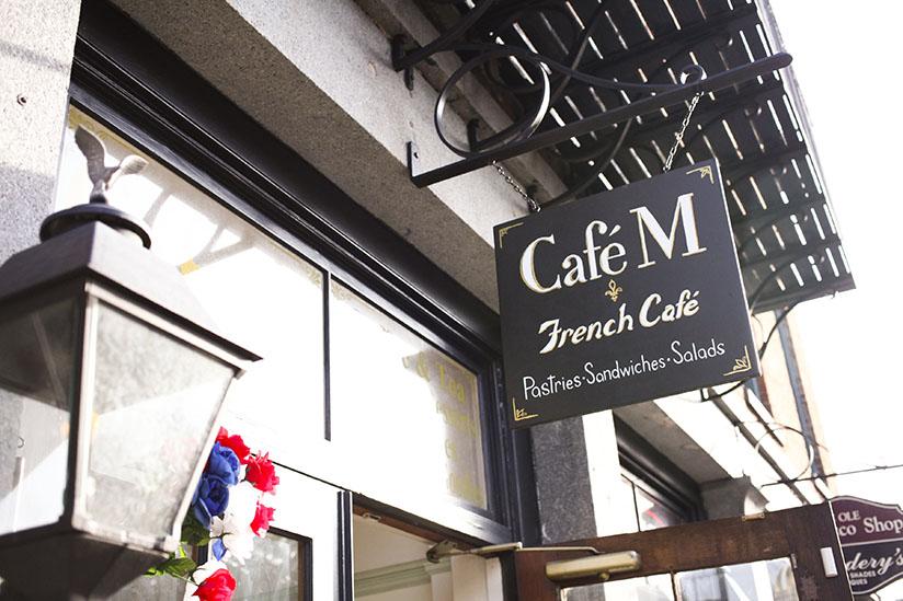 Cafe M on River St in Savannah, Georgia.