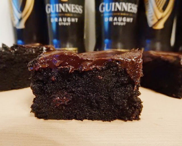 Triple Chocolate Stout Brownies with Baileys Ganache