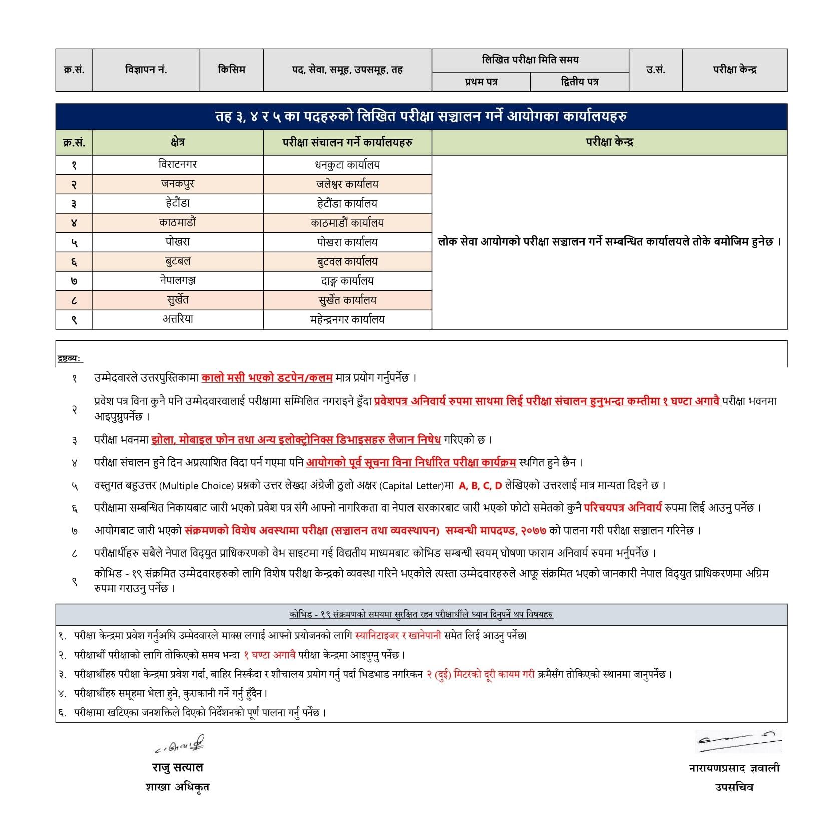 Nepal Electricity Authority (NEA) Level 3, 4 and 5th Written Exam Notice