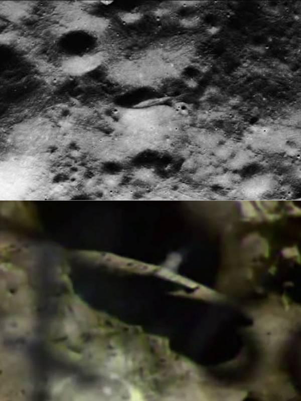 La supuesta nave espacial explorada por «Apollo 20»