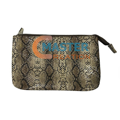 Python lines leather bag