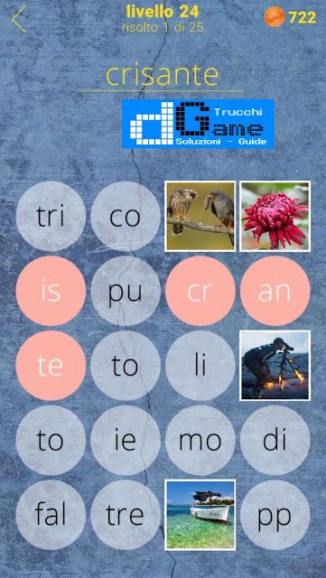 650 Parole soluzione livello 24 (1 - 25) | Parola e foto