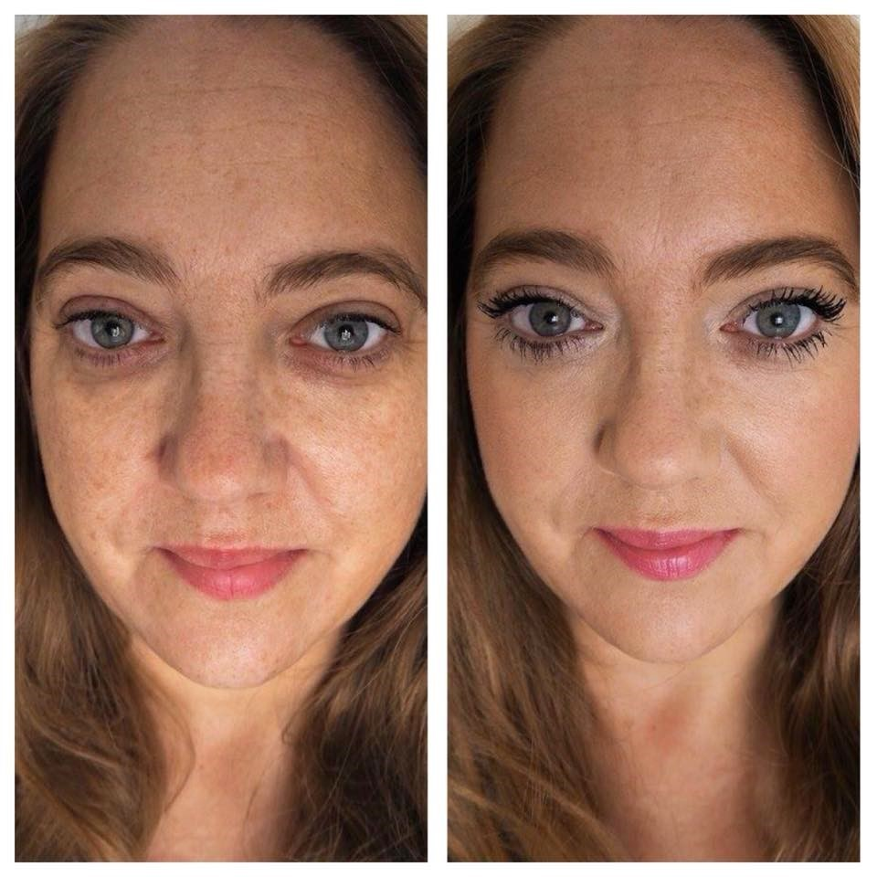 My untouched before & after photo wearing the It Cosmetics Tsv