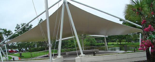 tenda membrane desain untuk taman