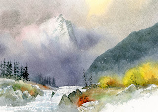 David Bellamy - Demonstrating watercolours at Patchings Art Festival