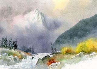 David Bellamy - Demonstrating watercolours at Patchings Art Festival