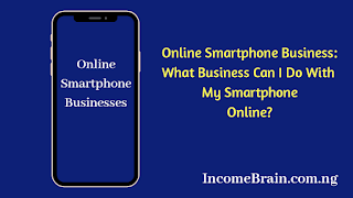 IncomeBrain Online Smartphone Business image