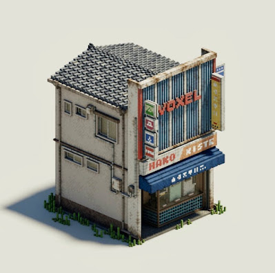 Voxel Electric Shop Building