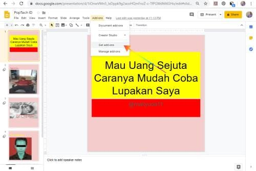 Cara Mendownload Presentasi Google Slides anda sebagai File Video