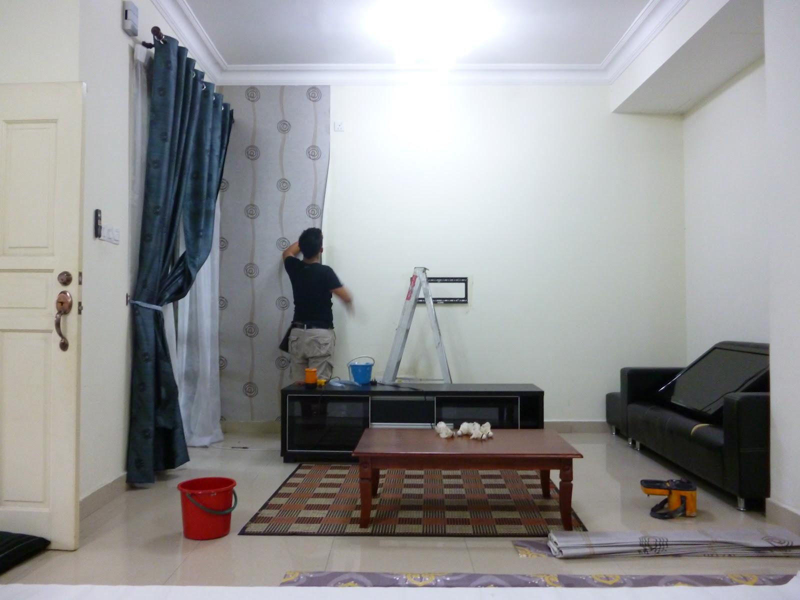 107 cara pemasangan wallpaper untuk dinding rumah - Cara pasang wallpaper ...