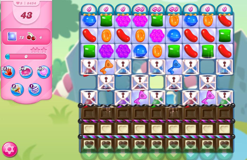 Candy Crush Saga level 8454