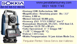ALAMSUTRA SOKKIA IM-52 Total Station 2 Display Reflectorless
