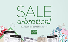Cover of Stampin' Up! Sale-A-Bration Brochures for the second Sale-a-Bration for 2021
