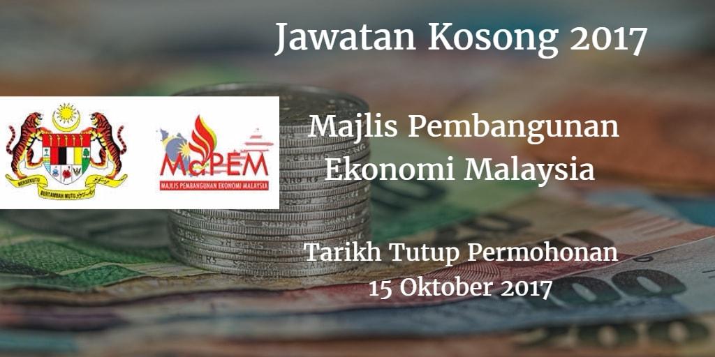 Jawatan Kosong MAPEM 15 Oktober 2017
