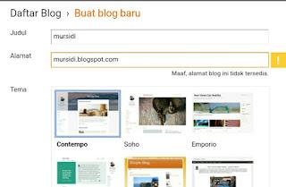 Cara Membuat Blog Gratis di Blogger.