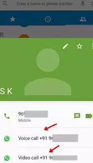 phone app me number type kar whatsapp par chat ka sakte hai