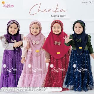 Koleksi Baju Gamis Baby LABELLA Terbaru Cherika