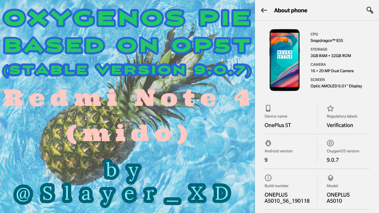 OxygenOS Pie Based on OP5T (Stable Version 9 0 7) by