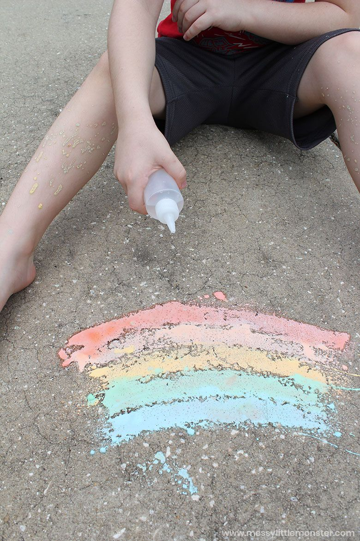 fizzy sidewalk chalk recipe