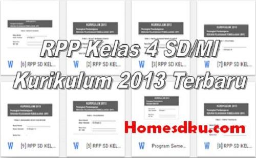 RPP Kelas 4 SD/MI Kurikulum 2013 Terbaru