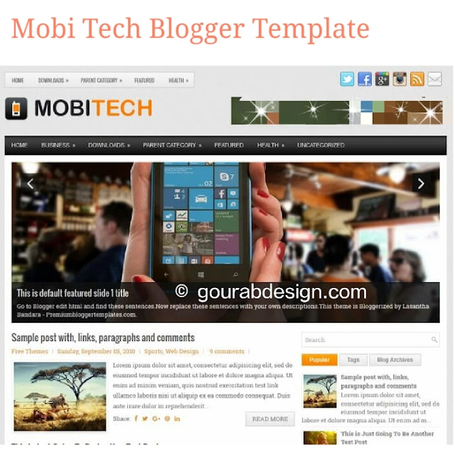 MobiTech responsive technology blogger template