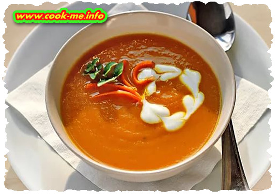 Carrot puree soup