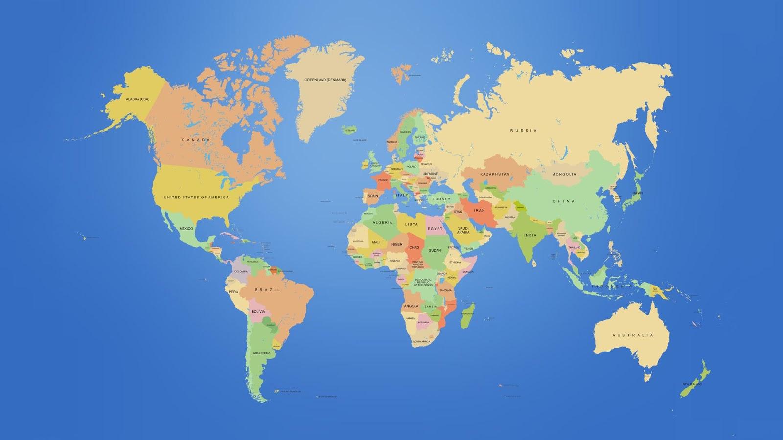 карта европа обои для рабочего стола