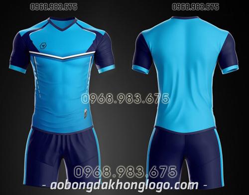 Áo bóng đá ko logo TA Ste màu xanh ngọc