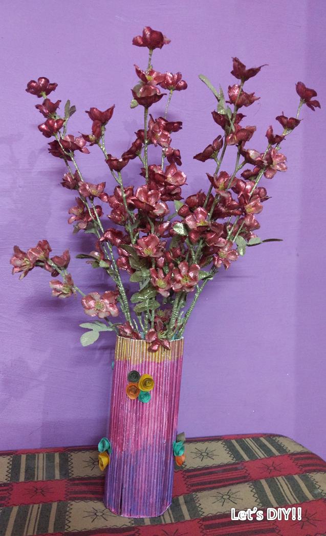 Papered paper flower vase paper flower vase mightylinksfo