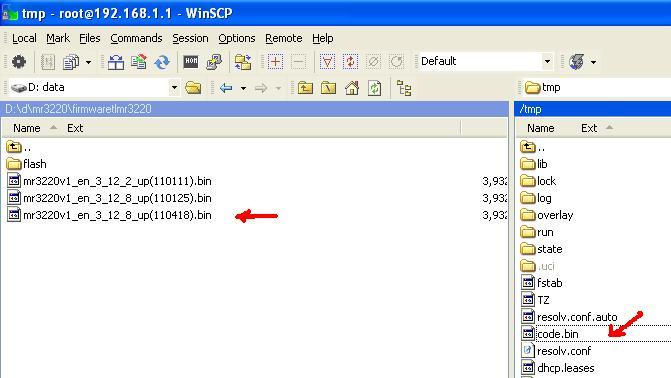 Openwrt Winscp