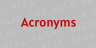 Acronyms - Every Programmer Should Know